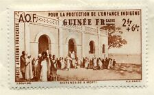 FRENCH COLONIES  GUINEE 1942 early Child Welfare issue Mint hinged 2Fr. value