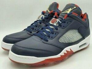 Nike Air Jordan Retro 5 V Low Golf NRG Obsidian Wing It CW4206-400 Men's Size 15