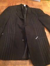 Sakko Anzug Jacke schwarz Gr. 44 Reißverschluss chic modisch Konfirmation