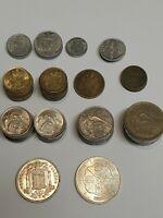 Schöne Sammlung Franco Spanien Peseten Espana Lot Münzen mit Silber