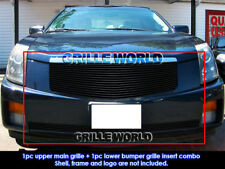 Fits 03-07 Cadillac CTS Black Billet Grille Grill Combo Insert