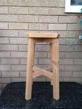 Pine wooden bar stools shabby chic country rustic project x 3