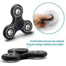 Black Pocket Gear Gyro EDC ADHD Autism Anxiety Tri 3D Fidget Spinner Focus Toy