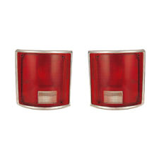 Tail Lights Lens Pair Set for 78-91 Chevy/GMC Blazer/Suburban (w/Chrome)