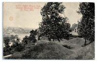 1911 Indian Mound Park showing Mississippi River, St. Paul, MN Postcard