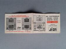 NINTENDO GAME&WATCH MULTISCREEN MICKEY&DONALD DM-53 ORIGINAL FRENCH Ji21 MANUAL