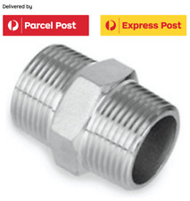 Stainless Steel 316 Hexagonal Nipple Male BSP Thread 1/4 inch - 3 inch 10 sizes