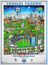 MLB All-Star Game KANSAS CITY 2012 Official Poster Print by Charles Fazzino