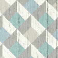 GALERIE UNPLUGGED WOOD PANEL EFFECT TRIANGLE PATTERN TEXTURE VINYL WALLPAPER MUL