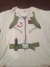Ghostbusters Uniform Costume Cosplay T-shirt Men's XL Extra Large 100% Cotton