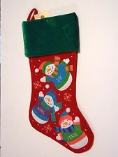 RED VELORE WITH RED & SILVER SEQUINSCHRISTMAS STOCKING MANTLE DECORATION