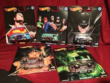 Hot Wheels 50th ANNIVERSARY ALEX ROSS JUSTICE LEAGUE COMPLETE SET Real Riders
