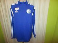 FC Schalke 04 Adidas Spieler Freizeit- Training Zipper/Jacke 2014/15 Gr.L