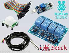 Raspberry Pi KIT   Relé   sonda de temperatura   Sensor De Luz Sensor PIR  