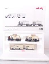 "MARKLIN 46753 HO GAUGE 3 RAIL - GERMAN DRG ""STORK CARAMEL"" TANKER & LORRY SET"