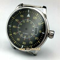 New 44mm Steel Fit  Miyota 82 Series,DG 2813/3804 Automatic Movement Watch Case