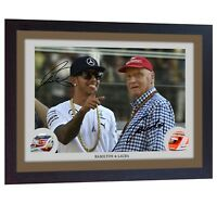 Lewis Hamilton Niki Lauda signed autographed Formula 1 photo print FRAMED