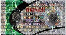 2 Pcs BRAND NEW LR41 /192 / AG3 / V3GA 1.5v Maxell Alkaline Button Cell Battery