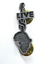 LIVE 8 - LOGO METAL STICK PIN NEW OFFICIAL AID AFRICA MUSIC FESTIVAL CONCERT