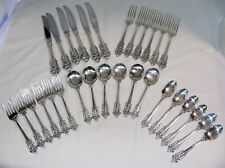 GRANDE BAROQUE DINNER SET 6 PLACE SETTINGS 30 PC WALLACE STERLING