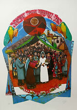 "AMRAM EBGI ""CHUPA WEDDING"" Hand Signed Foil Embossed Limited Edition Lithograph"