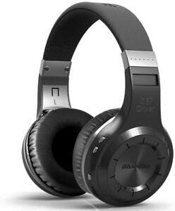 Wireless Bluetooth 5.0 Headphones Powerful Bass Bulit-in Microphone - Black