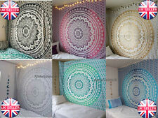 Large Indian Ombre Tapestry Wall Hanging Mandala Hippie Bedspread Throw Cover UK