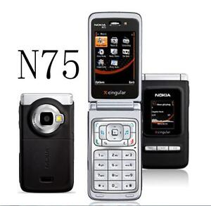 """Nokia N75 Mobile Phone 2MP 2G 3G Bluetooth 2MP Camera 2.4"""" FM Music Cell phone"""