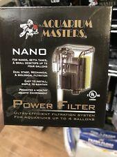 Aquarium Masters Nano Aquarium Filter Up To 4 Gallon Tanks Power Filter Cleans