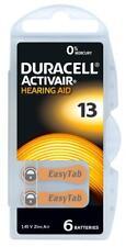 60 x Duracell ActivAir Typ 13 Hörgerätebatterien 10 x 6er Stück 1,45V 310mAh