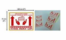 Delicate Cake This Way Up 25mm Core Roll Labels Choose Quantity