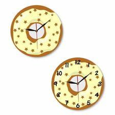 Colorful Printed Doughnut Wall Clock Kawaii Dessert Sweets Modern Wall Clock
