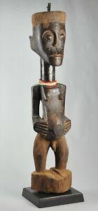 81 CM Grand Fétiche SONGYE statue Congo  African Art Tribal Africain 1342