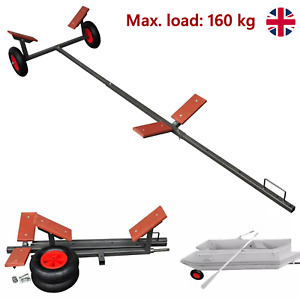 Load 160kg Boat Trailer Folding Launching Trolley Dinghy Inflatable Wheels Tool