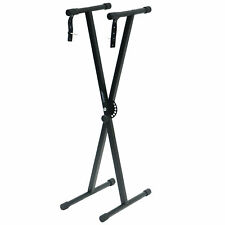 More details for portable heavy duty x frame folding adjustable keyboard stand piano with straps