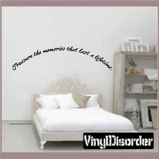 Treasure the memories that Wall Quote Mural Decal-friendsphotoquotes10