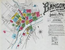 Bangor, Maine ~Sanborn Map© sheets~99 maps on a Cd made in 1884 to 1901