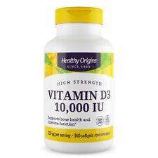 Vitamina D3 Healthy Origins 10000 UI capsule morbide compresse pastiglie pillole