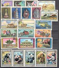R9934 - MONGOLIA 1974 - LOTTO 23 TEMATICI DIFFERENTI DEL PERIODO - VEDI FOTO