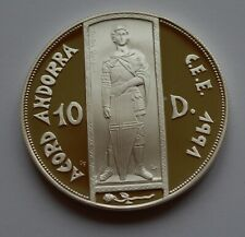 More details for 1993 andorra silver proof  10 diners  coin