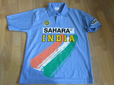 India Sahara Light Blue Khan No 34 on Back Player Issue Cricket Top Size 46