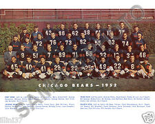1952 CHICAGO BEARS 8X10 TEAM PHOTO BLANDA BULLDOG TURNER BILL GEORGE HALAS