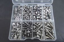 300 Assorted  M4 Allen Socket Button Bolts, Nuts & Washers. A2 Stainless Steel.