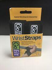 GoFit Cotton Wrist Straps - Black