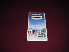 1964 Mobil Oil Road Map of California Rand McNally