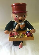 "Vintage STEINBACH WOODEN ""Street Peddler"" SMOKER INCENSE BURNER -Made In Germany"
