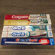 Vintage Lot (5) Toothbrush Colgate Oral-B & Crest Brand New