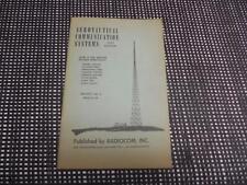 Old Vtg 1951 Radiocom Manual Aeronautical Communication Systems Registry Call #s