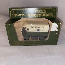 1984 MATCHBOX MODELS OF YESTERYEAR Y29 1919 WALKER ELECTRIC VAN HARRODS LTD MIB