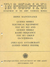 TM9-9503-1-2-50 Guided Missile set M22 NIKE-AJA Book Maintenance Operators Army